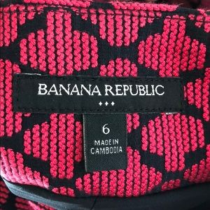 Banana Republic Skirts - Red and navy pleated skirt